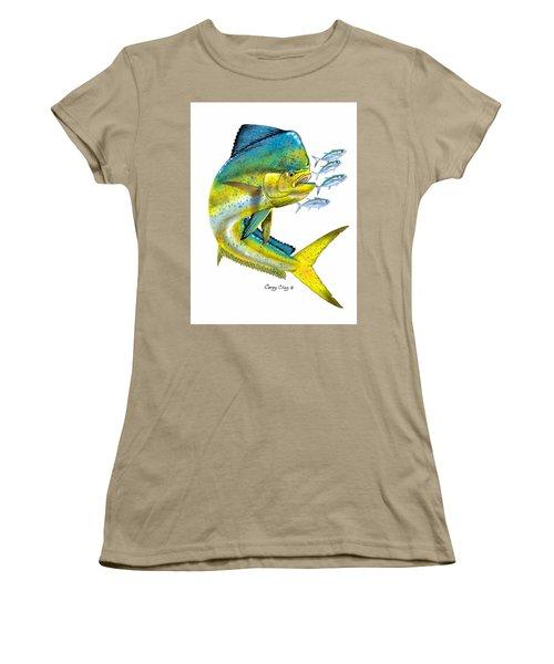 Mahi Digital Women's T-Shirt (Junior Cut) by Carey Chen