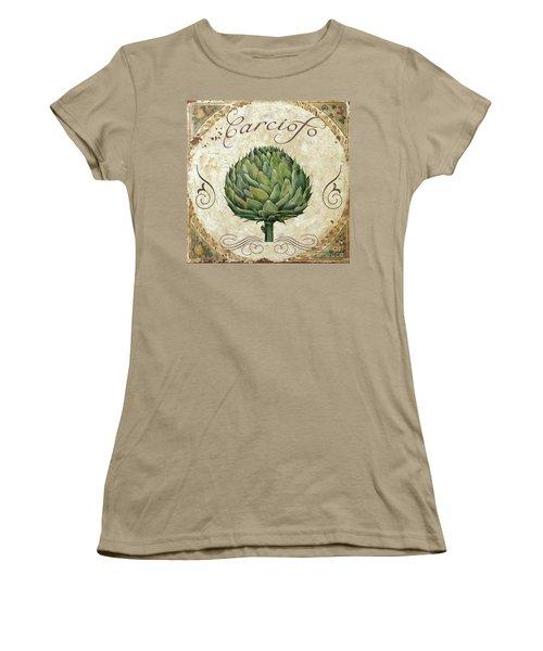 Mangia Artichoke Women's T-Shirt (Junior Cut) by Mindy Sommers