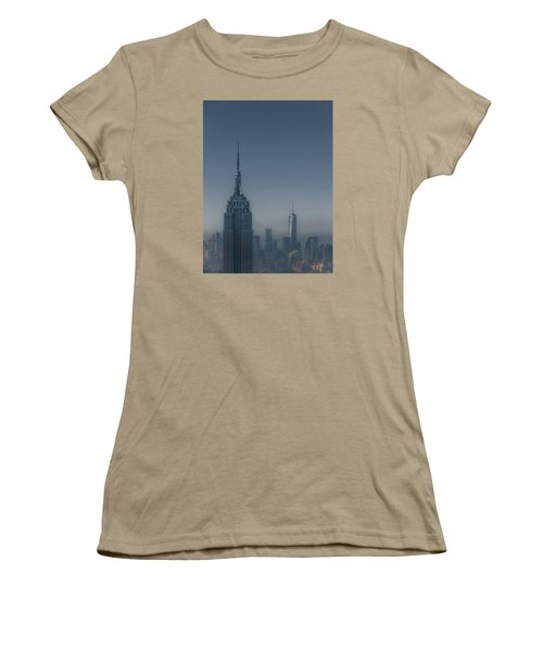 Morning In New York Women's T-Shirt (Junior Cut) by Chris Fletcher