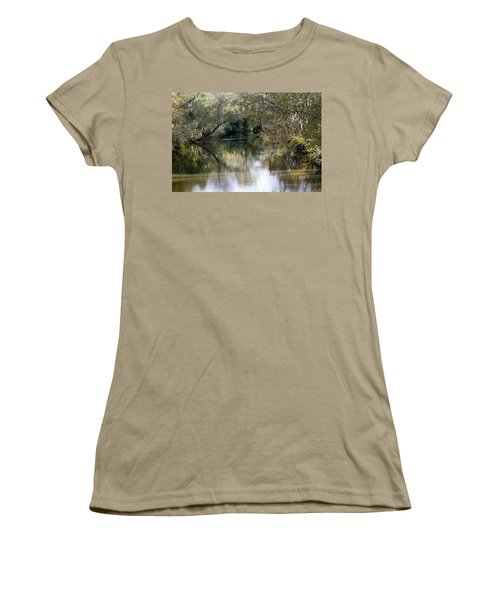Women's T-Shirt (Junior Cut) featuring the photograph Muckalee Creek by Jerry Battle