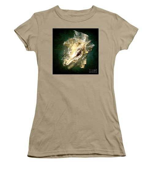 Women's T-Shirt (Junior Cut) featuring the painting Multidimensional Finds by Alexa Szlavics