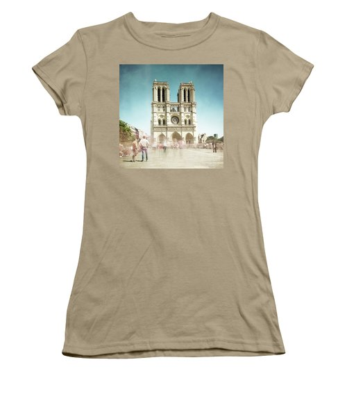 Women's T-Shirt (Junior Cut) featuring the photograph Notre Dame by Hannes Cmarits