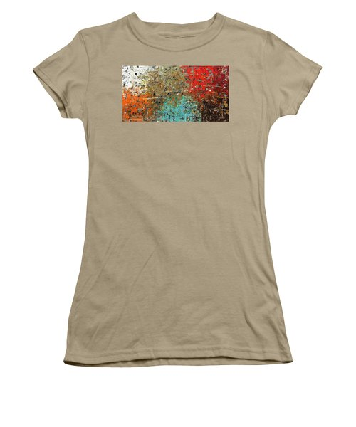 Women's T-Shirt (Junior Cut) featuring the painting Now Or Never by Carmen Guedez