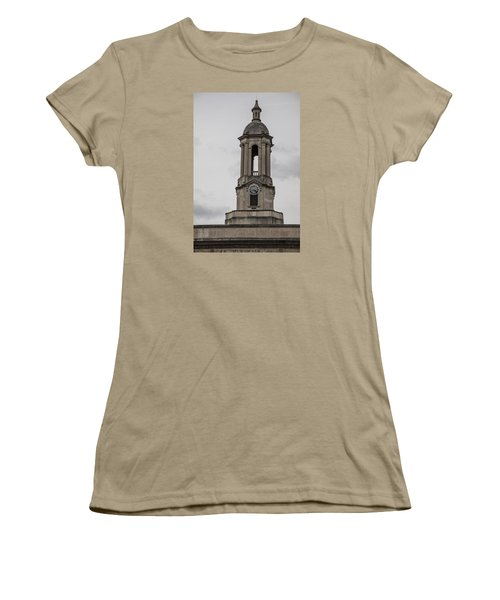 Old Main From Front Clock Women's T-Shirt (Junior Cut) by John McGraw