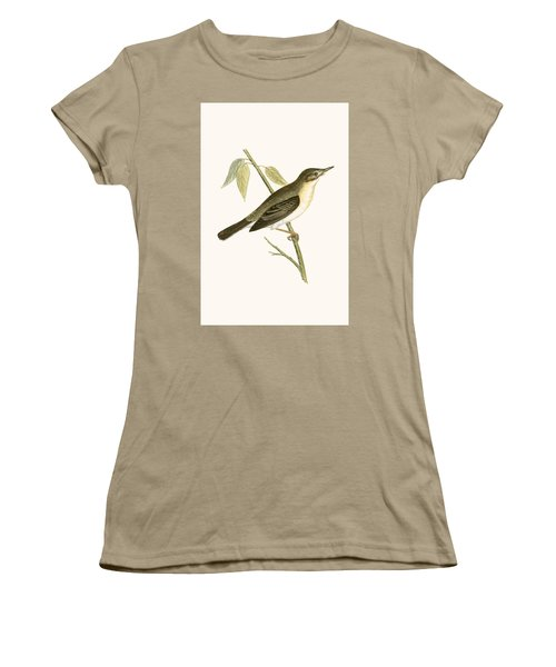 Olivaceous Warbler Women's T-Shirt (Junior Cut) by English School