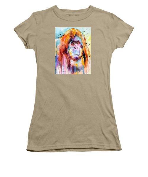Orangutan  Women's T-Shirt (Junior Cut) by Slavi Aladjova