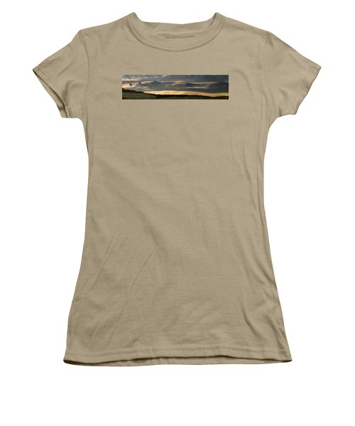 Women's T-Shirt (Junior Cut) featuring the photograph Oregon Canyon Mountain Layers And Textures by Leland D Howard