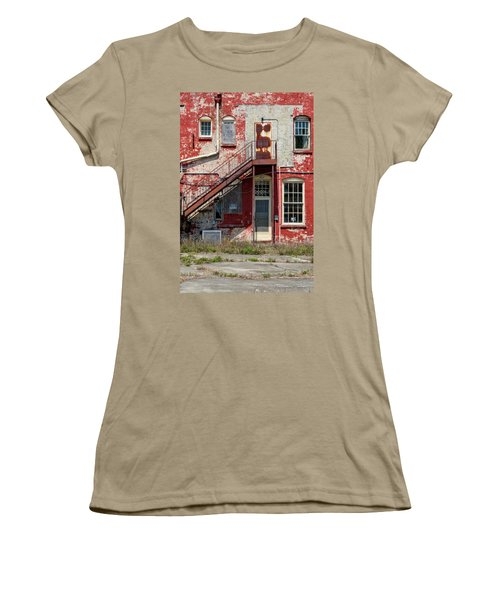 Women's T-Shirt (Junior Cut) featuring the photograph Over Under The Stairs by Christopher Holmes