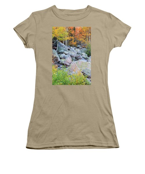 Women's T-Shirt (Junior Cut) featuring the photograph Painted Rocks by David Chandler