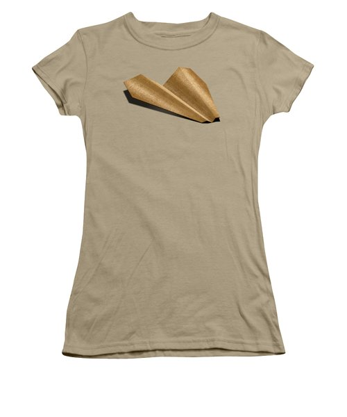 Paper Airplanes Of Wood 6 Women's T-Shirt (Junior Cut) by YoPedro