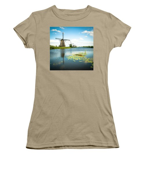 Women's T-Shirt (Junior Cut) featuring the photograph Picturesque Kinderdijk by Hannes Cmarits