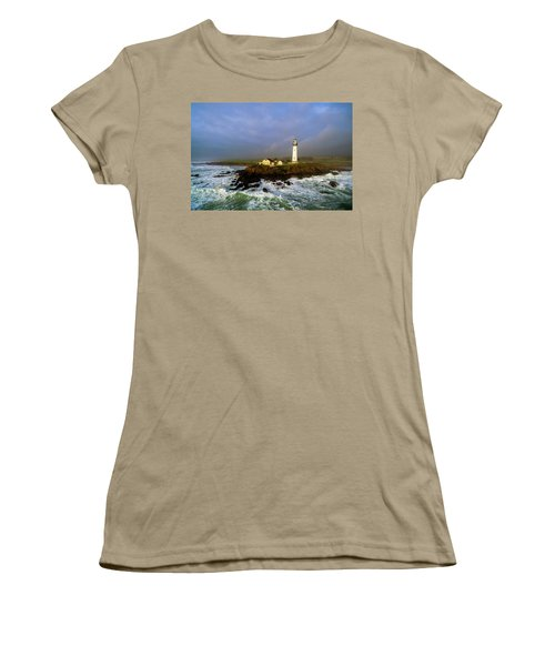 Women's T-Shirt (Junior Cut) featuring the photograph Pigeon Point Lighthouse by Evgeny Vasenev