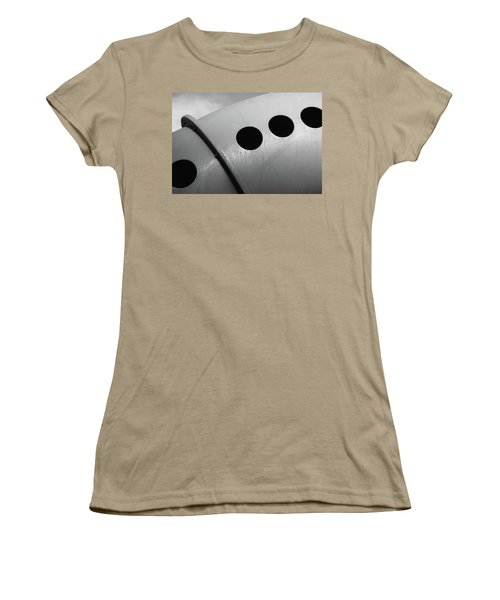 Women's T-Shirt (Junior Cut) featuring the photograph Playground Bridge by Richard Rizzo
