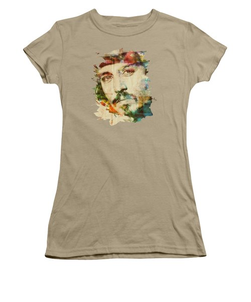 Portrait Of Johnny Women's T-Shirt (Junior Cut) by Maria Arango