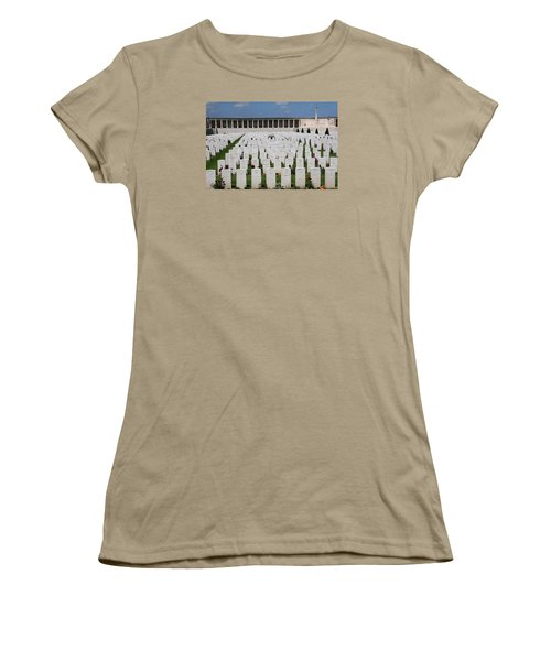 Women's T-Shirt (Junior Cut) featuring the photograph Pozieres British Cemetery by Travel Pics