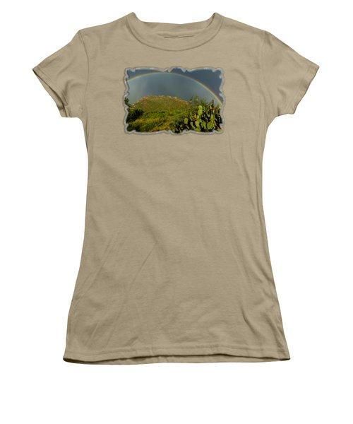 Pusch Ridge Rainbow H38 Women's T-Shirt (Junior Cut) by Mark Myhaver