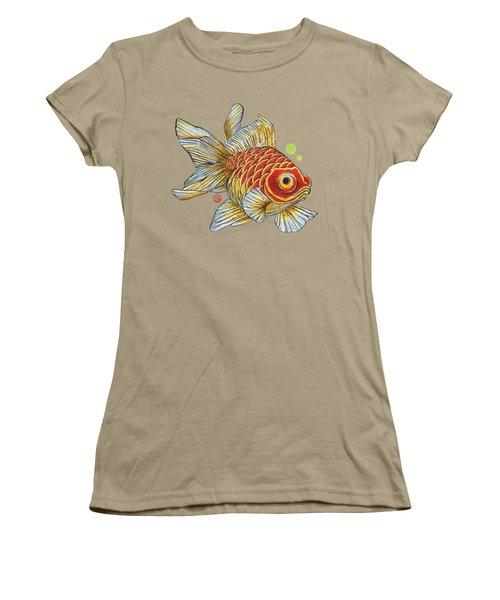 Red Telescope Goldfish Women's T-Shirt (Junior Cut) by Shih Chang Yang