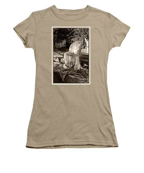Women's T-Shirt (Junior Cut) featuring the photograph Rest Stop by Vinnie Oakes