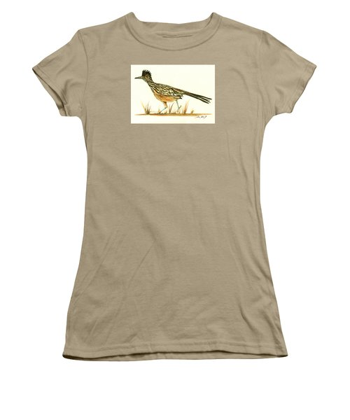 Roadrunner Bird Women's T-Shirt (Junior Cut) by Juan Bosco