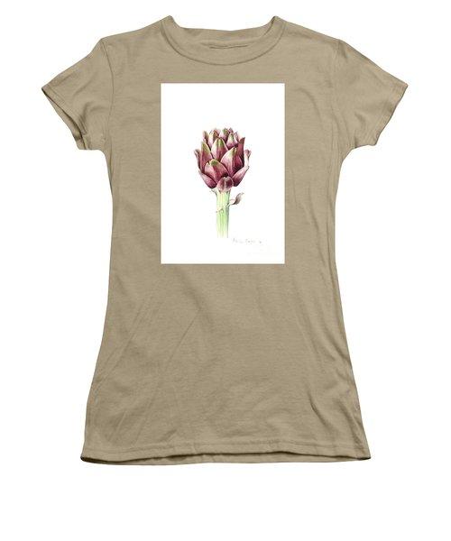 Sardinian Artichoke Women's T-Shirt (Junior Cut) by Alison Cooper