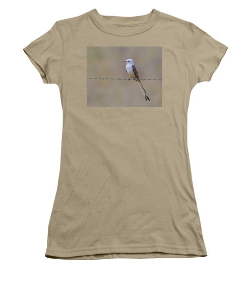 Scissor-tailed Flycatcher Women's T-Shirt (Junior Cut) by Tony Beck