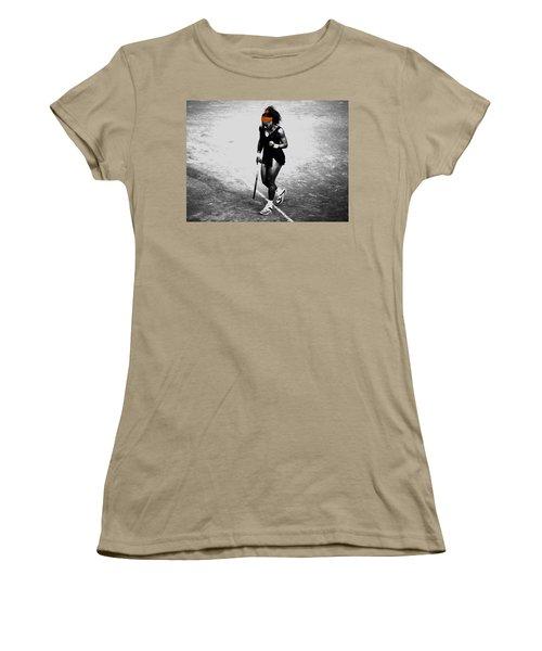 Serena Williams Match Point 3a Women's T-Shirt (Junior Cut) by Brian Reaves