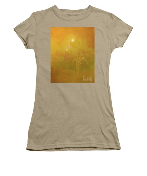 Women's T-Shirt (Junior Cut) featuring the painting Shipwrecked Lovers by Alexa Szlavics