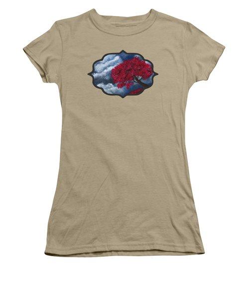 Women's T-Shirt (Junior Cut) featuring the painting Small World by Anastasiya Malakhova