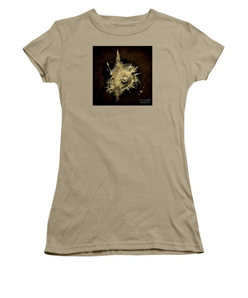 Women's T-Shirt (Junior Cut) featuring the painting Sea Shell by Alexa Szlavics