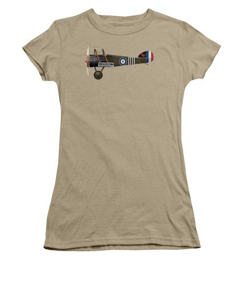 Sopwith Camel - B6313 June 1918 - Side Profile View Women's T-Shirt (Junior Cut) by Ed Jackson