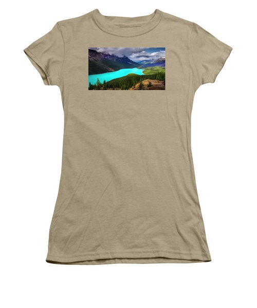 Women's T-Shirt (Junior Cut) featuring the photograph  Spirit Of The Wolf by John Poon