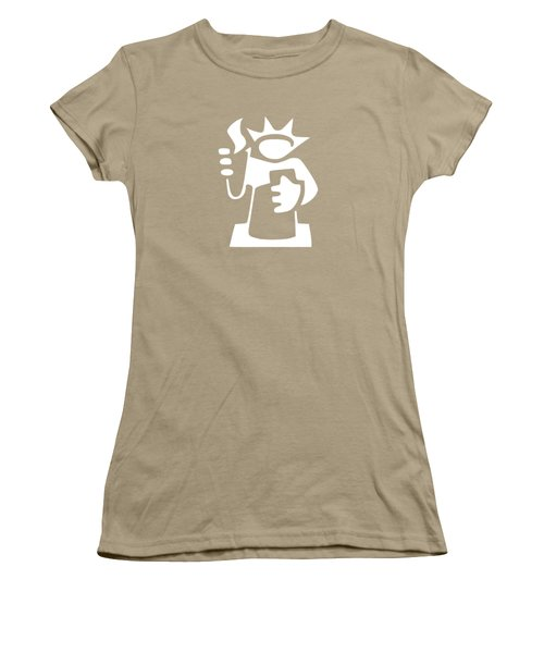 Statue Of Liberty Women's T-Shirt (Junior Cut) by Frederick Holiday