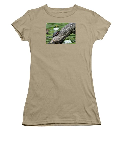 Women's T-Shirt (Junior Cut) featuring the photograph Turtle Sunbathing by Glenn Gordon