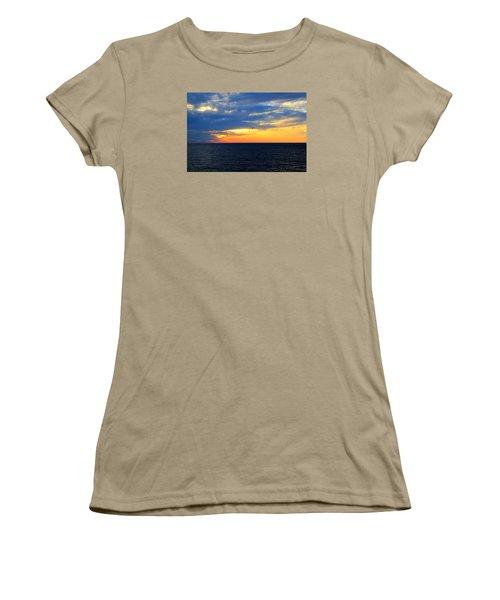 Women's T-Shirt (Junior Cut) featuring the photograph Sunset At Sail Away by Shelley Neff