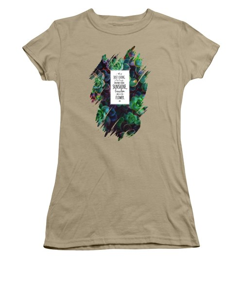 Sunshine, Freedom, Flower Women's T-Shirt (Junior Cut) by Atelier Seneca