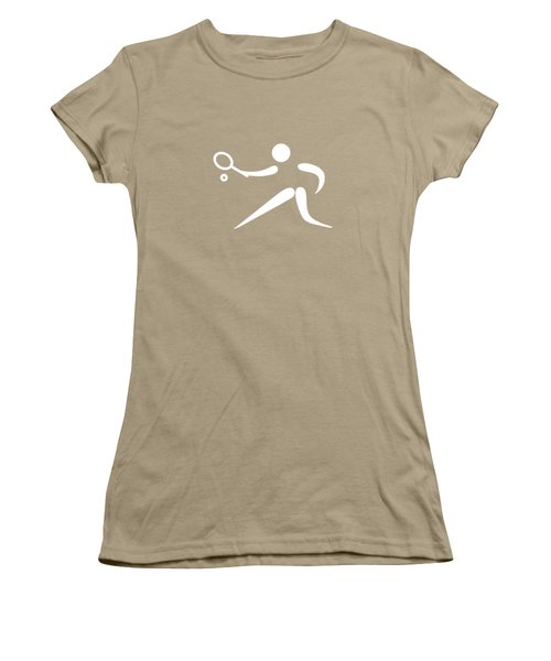 Tennis Player Women's T-Shirt (Junior Cut) by Frederick Holiday