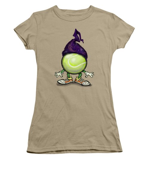 Tennis Wiz Women's T-Shirt (Junior Cut) by Kevin Middleton
