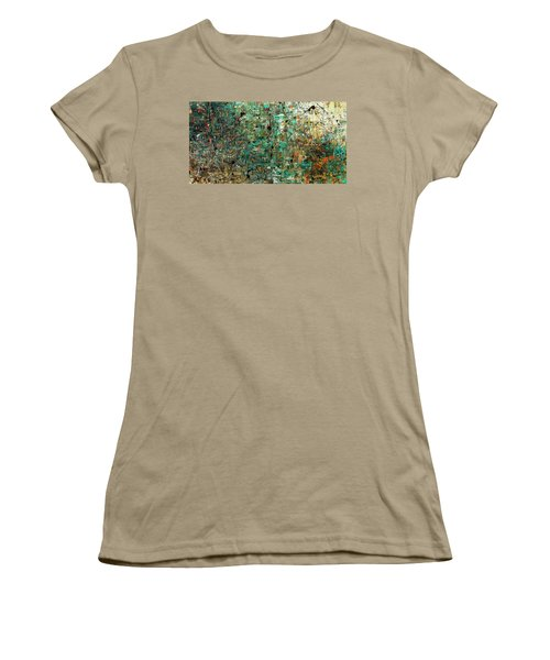 Women's T-Shirt (Junior Cut) featuring the painting The Abstract Concept by Carmen Guedez