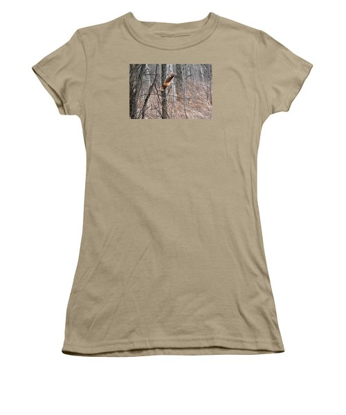 The American Woodcock In-flight Women's T-Shirt (Junior Cut) by Asbed Iskedjian