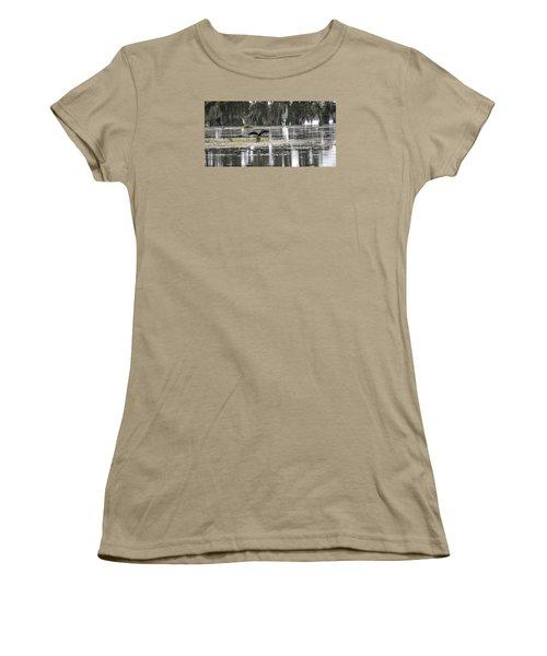 The Announcer  Women's T-Shirt (Junior Cut) by Betsy Knapp