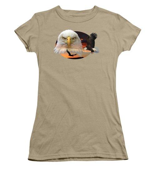 The Bald Eagle 2 Women's T-Shirt (Junior Cut) by Shane Bechler