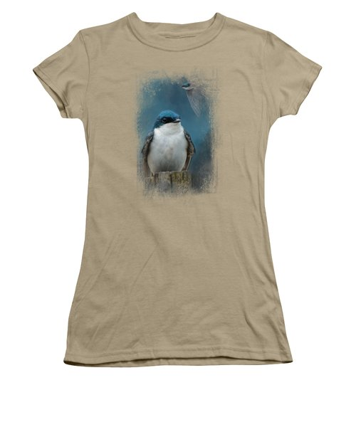 The Beautiful Tree Swallow Women's T-Shirt (Junior Cut) by Jai Johnson