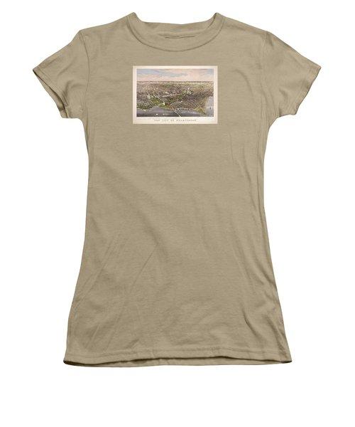 The City Of Washington Women's T-Shirt (Junior Cut) by Charles Richard Parsons