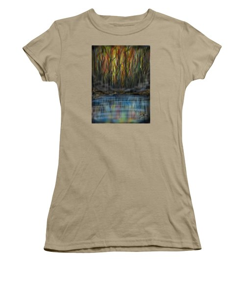 Women's T-Shirt (Junior Cut) featuring the digital art The River Side by Darren Cannell