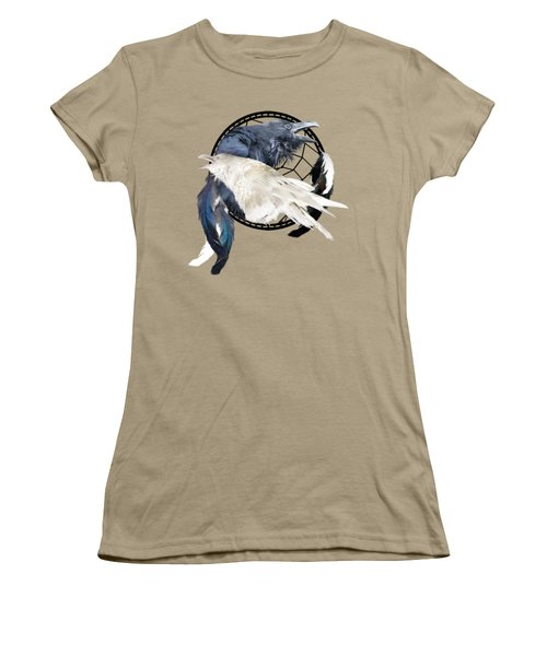 The White Raven Women's T-Shirt (Junior Cut) by Carol Cavalaris