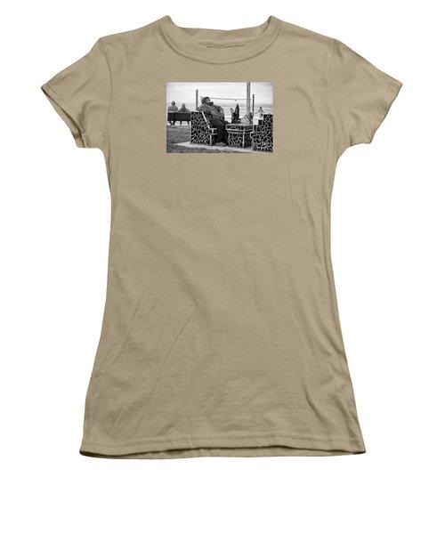 Women's T-Shirt (Junior Cut) featuring the photograph Three Laguna Lifestyles by Vinnie Oakes