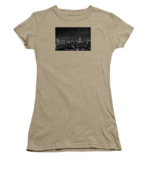 Tokyo Skyline Women's T-Shirt (Junior Cut) by Liz Grandstaff