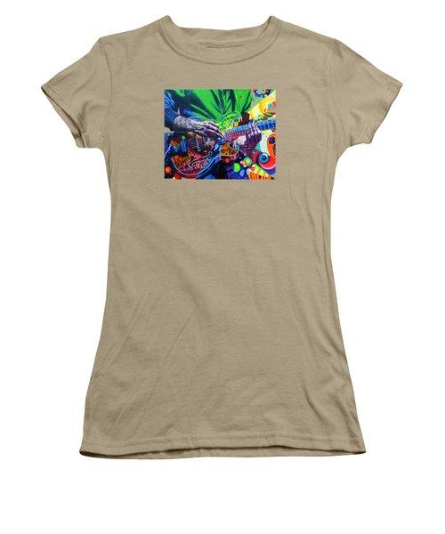 Trey Anastasio 4 Women's T-Shirt (Junior Cut) by Kevin J Cooper Artwork