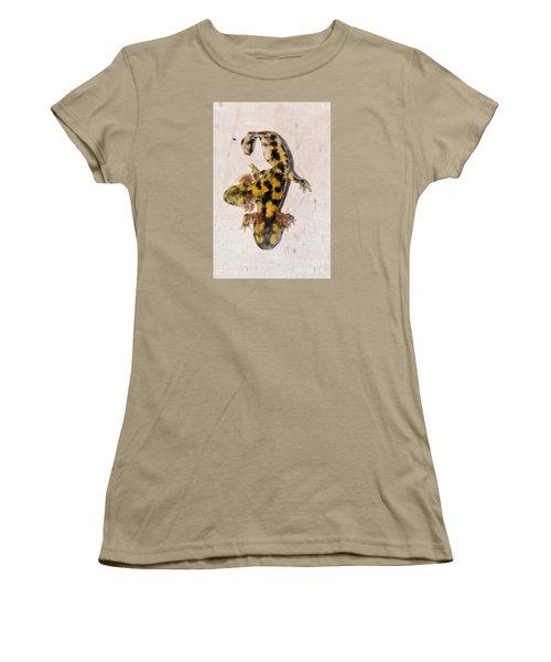 Two-headed Near Eastern Fire Salamande Women's T-Shirt (Junior Cut) by Shay Levy