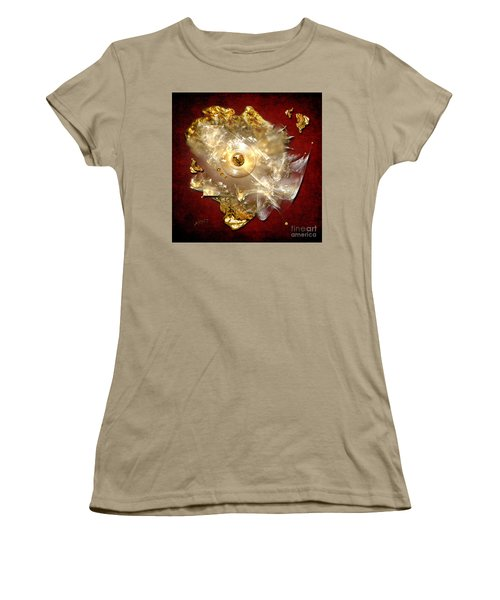 Women's T-Shirt (Junior Cut) featuring the painting White Gold by Alexa Szlavics